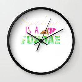 Sundae is a Fundae Colorful Wall Clock