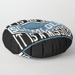 Scaffolder  - It Is No Job, It Is A Mission Floor Pillow