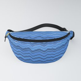 Blue waves pattern Fanny Pack