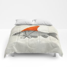 Goldfish with a Shark Fin Comforters