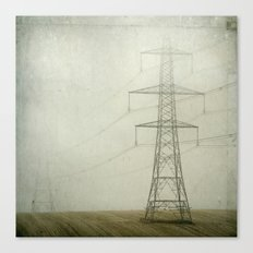 Pylons in the Mist Canvas Print