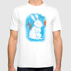 Bunny Rider MEDIUM White Mens Fitted Tee