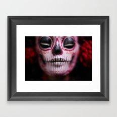 Midnight Harvest Muertita Detail Framed Art Print