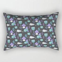 Magical Monster Garden-Nightlight Rectangular Pillow