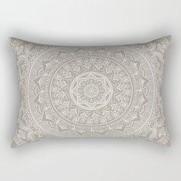Mandala - Taupe Rectangular Pillow