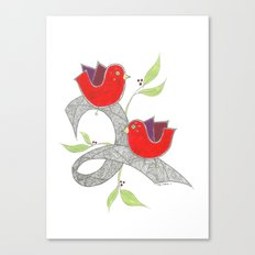 Red Birds Canvas Print