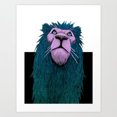 Lion Bust Art Print