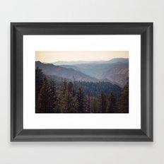 Yosemite Mountains  Framed Art Print
