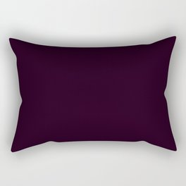 Simply Deep Eggplant Purple Rectangular Pillow
