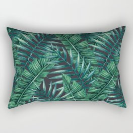 Palm and Banana Leaf Tropical Pattern Rectangular Pillow