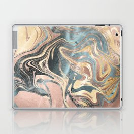 Liquid Gold and Rose Gold Marble Laptop & iPad Skin