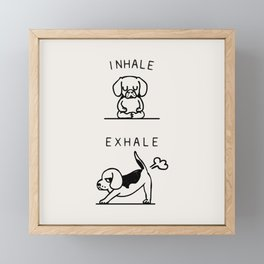 Inhale Exhale Beagle Framed Mini Art Print