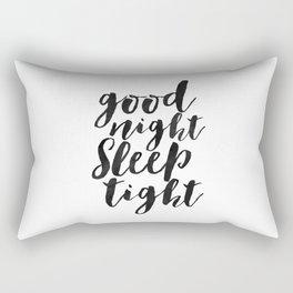 printable art,good night sleep tight,bedroom decor,kids gift,nursery decor,quote prints,wall art Rectangular Pillow