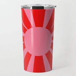 Pink Red Summer Sun Travel Mug