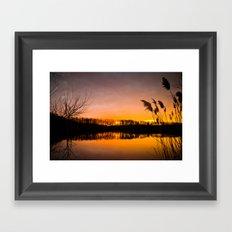 Manasquan Sunset Framed Art Print