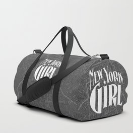 New York Girl B&W / Vintage typography redrawn and repurposed Duffle Bag
