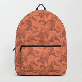 Geometrical Triangle Patterns 2 Fringe Orange, Orange Slice, Fiery Sky Orange, Heirloom Tomato Backpack
