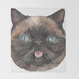 Der the Cat - artist Ellie Hoult Throw Blanket