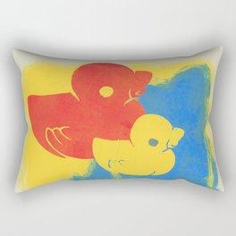 Rubber Duck Monoprint Rectangular Pillow
