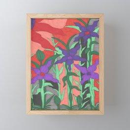 Twilight Sun Garden Floral Art Framed Mini Art Print