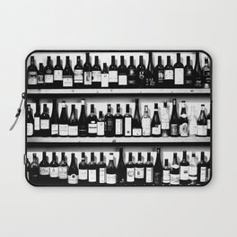 Wine Bottles in Black And White #society6 #decor Laptop Sleeve