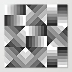 Black and White Gradient Canvas Print