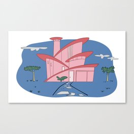 Pink Panther's Modern House Canvas Print
