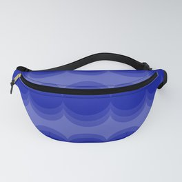 Four Shades of Blue Circles Fanny Pack