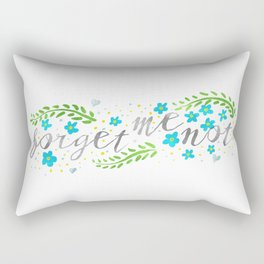 Forget Me Not - Painted Pretty - Inspired by Thumbelina Rectangular Pillow
