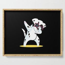 Dalmatian Dabbing Funny Dalmation Dab Dog Dance Serving Tray
