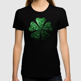 Glamour Dark Green glitter sparkles T-shirt