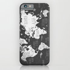 The World Map B/W Slim Case iPhone 6s