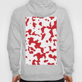 Large Spots - White and Fire Engine Red Hoody