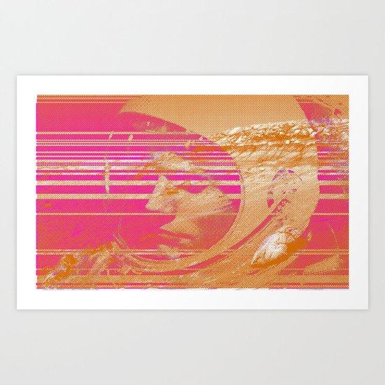 Glitchin' Art Print