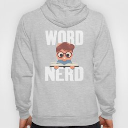 Word Nerd Reading Bookworm Nerdy Junior Students Hoody