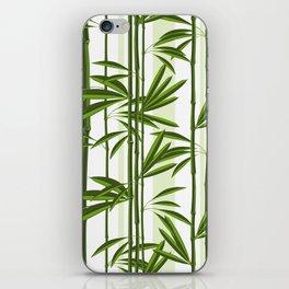 Green bamboo tree shoots pattern iPhone Skin