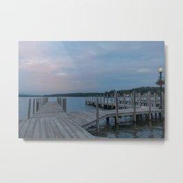 Weirs Beach Docks Metal Print