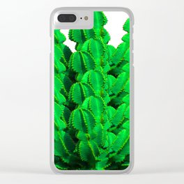 Cactus green modern mini-art Summer clothes; Spring is coming; new Cactuses; 2019 Clear iPhone Case
