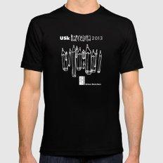 Urban Sketchers USk BCN 2013 Mens Fitted Tee Black MEDIUM