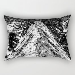 Squirrel View // Climbing Tall Tree Trunks // Winter Landscape Snowy Decor Photography Rectangular Pillow