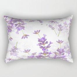 Lavender Bouquets On White Background #decor #society6 #buyart Rectangular Pillow