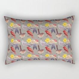 Bird Pattern Rectangular Pillow