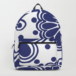 Classic Blue and White Talavera Backpack