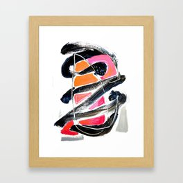 The Big Zag Framed Art Print