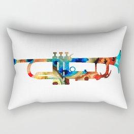 Colorful Trumpet Art By Sharon Cummings Rectangular Pillow