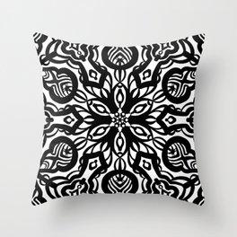 Bold Black Line Art Throw Pillow
