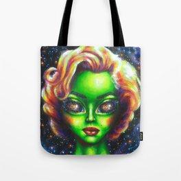 Iconic Alien Women: Marilyn Tote Bag