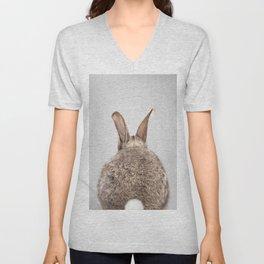 Rabbit Tail - Colorful Unisex V-Neck