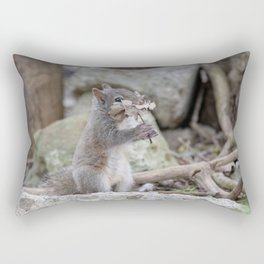 Squirrel smelling the leaves Rectangular Pillow