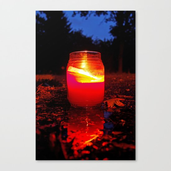 Summer candle Canvas Print